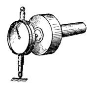 Рисунок 58 – Пример «ручной» записи механических колебаний (а), общий вид ручного виброметра с использованием индикатора перемещения часового типа (б)