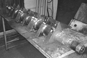 Характерные детали с покрытиями со структурой МСА (шейки вала дробилки)