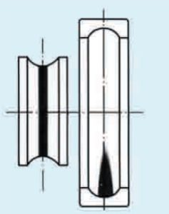 Рисунок 32 – Следы на беговых дорожках подшипников качения