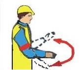 Стоп (прекратить подъём или передвижение)