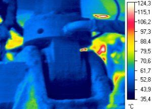 Термограмма гидроцилиндра вертикального перемещения холодильника МНЛЗ