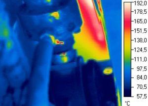 Термограмма гидроцилиндра горизонтального перемещения холодильника МНЛЗ