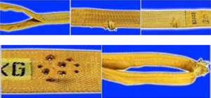 Признаки браковки текстильных стропов