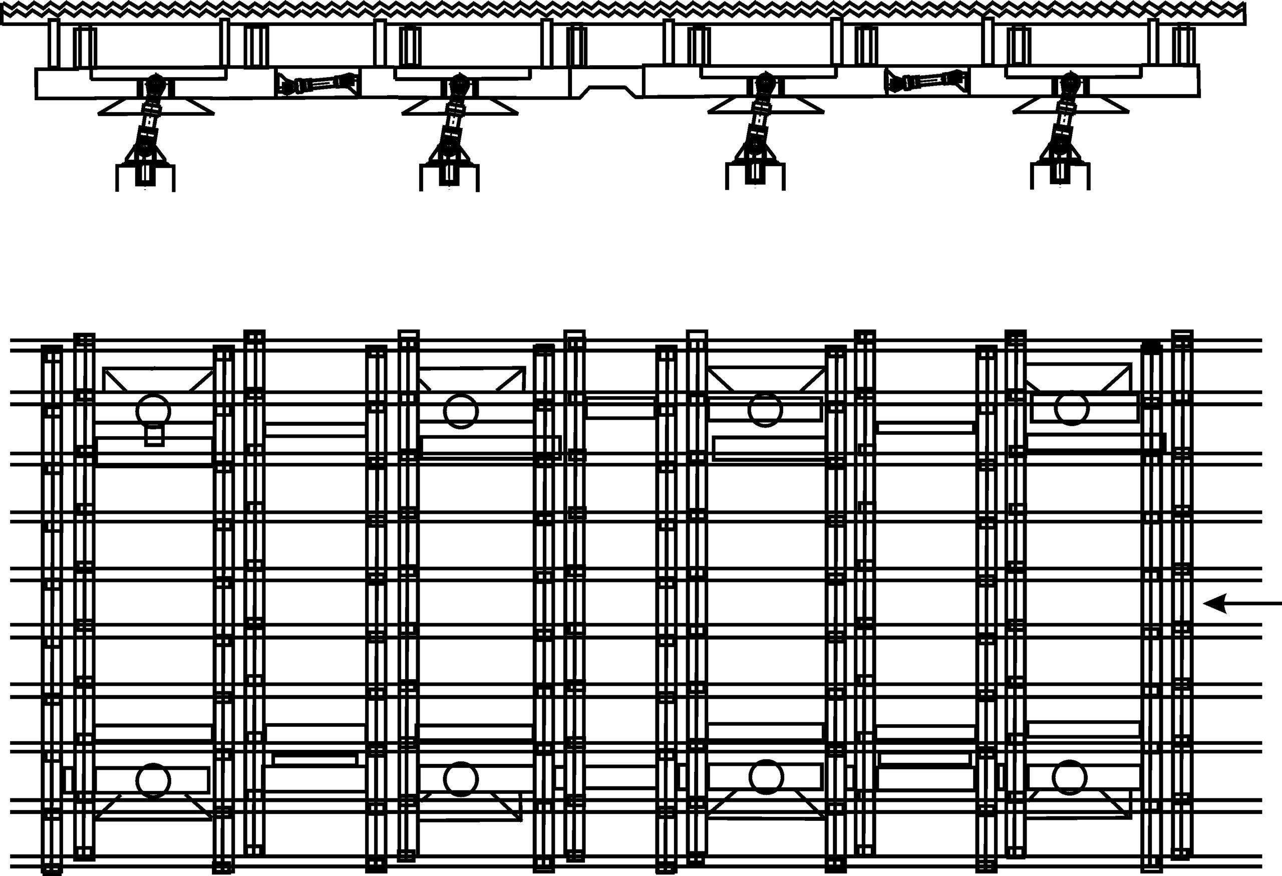 Рисунок 1 – Холодильник с шагающими балками для охлаждения заготовок, полученных на МНЛЗ