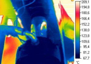 Рисунок 124 – Термограммы гидроцилиндров привода холодильника МНЛЗ