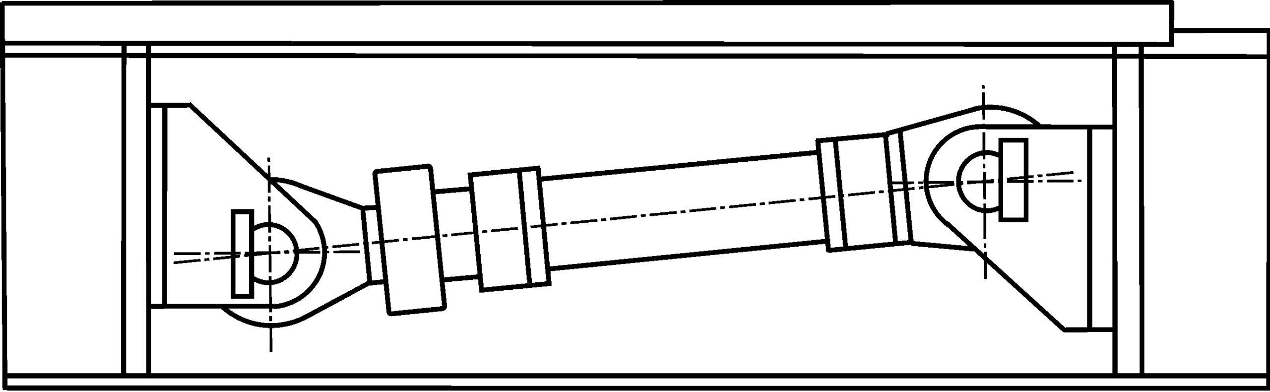Рисунок 3 – Гидроцилиндр горизонтального перемещения