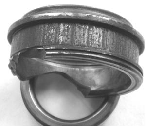Местное изнашивание внутреннего кольца при колебательном движении подшипника