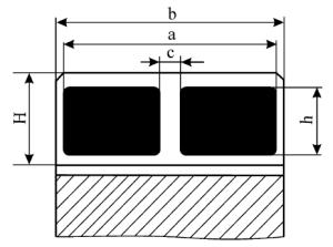Определение размеров пятна краски на зубьях цилиндрических колёс