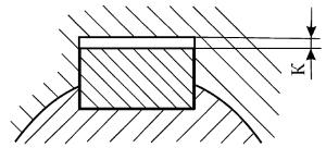 Зазор при установке призматических шпонок
