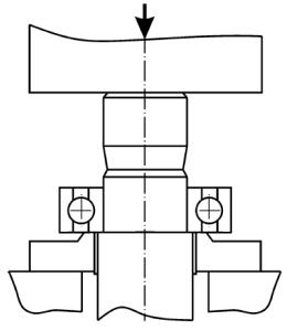 Разборка подшипников, установленных с натягом на шейку вала
