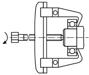 Разборка узла при помощи механического съёмника