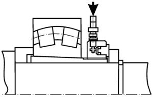 Разборка подшипников с закрепительной втулкой с применением гидравлической гайки и упорного кольца