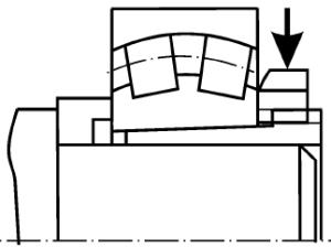 Разборка подшипников со стяжной втулкой с помощью шлицевой гайки и накидного ключа
