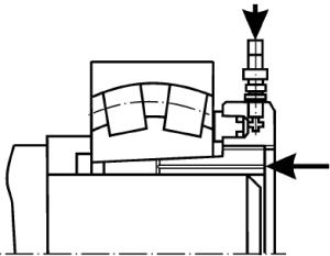 Разборка подшипников со стяжной втулкой с применением гидравлической гайки и подводом масла на сопряжённые поверхности подшипника и втулки
