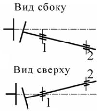 Пример центровки при помощи одной пары скоб