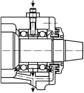Система впрыскивания масла в подшипниковый узел