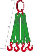 Строп текстильный четырёхветвевой (ленточный)