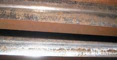 Общий вид рабочей поверхности зубчатой передачи редуктора бесцентрового токарного станка