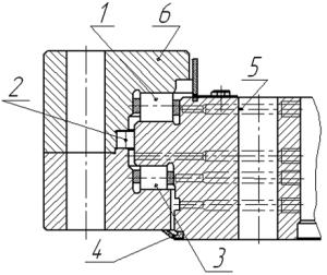 Трёхрядное роликоподшипниковое поворотное кольцо разливочного крана (конструкция)