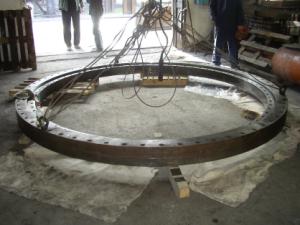 Трёхрядное роликоподшипниковое поворотное кольцо разливочного крана (общий вид)