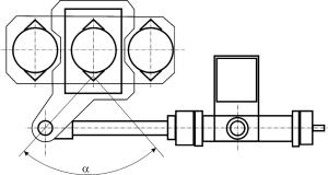 Кинематическая схема привода механизма поворота свода