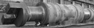 Рабочий валок блюминга на железнодорожной платформе