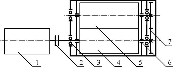 Кинематическая схема насоса 1